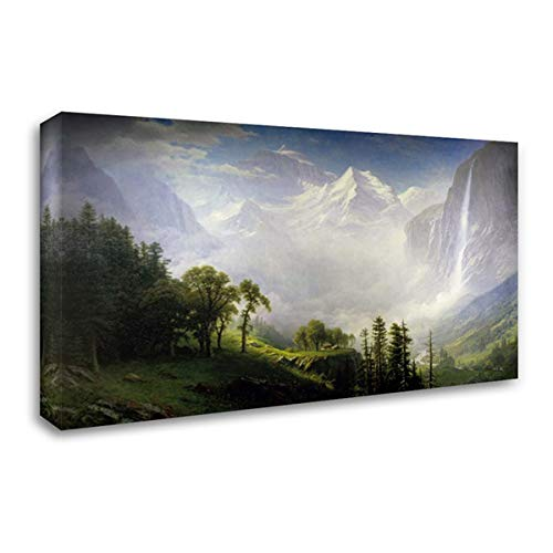 Majesty of The Mountains 24x17 Gallery Wrapped Stretched Canvas Art by Bierstadt, Albert (Albert Canvas Bierstadt)