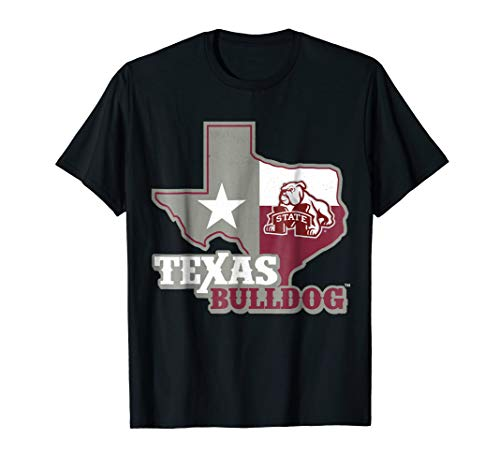 Mississippi State Bulldogs Texas Map T-Shirt - Apparel
