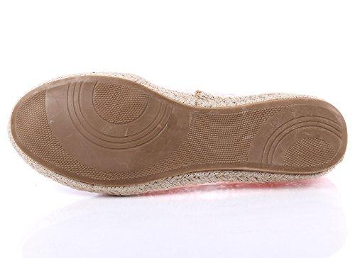 Mode Casual Slip Sur Seulement Dentelle Style Mignon Étroit Femmes Ballet Appartements Chaussures Nouveau Sans Boîte Rose