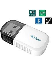 Lemorele Wireless USB WiFi Adattatore 5G/2.4G AC600 Mbps Bluetooth 4.2 Adattatore Wireless Dual Band WiFi Dongle per PC Desktop, Windows XP/7/8/10, Linux