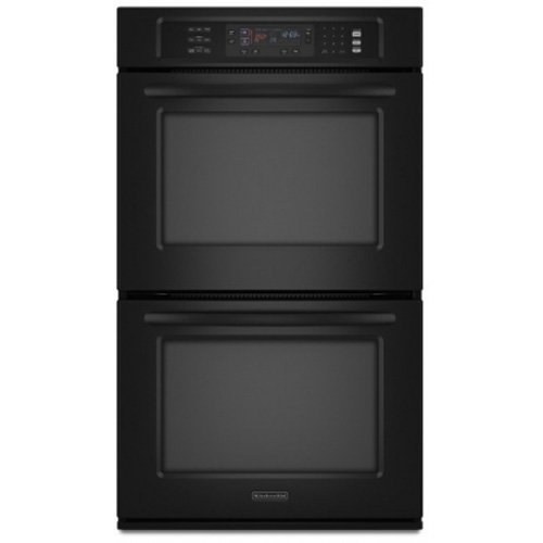 KitchenAid KEBS207SBL 30 Double Wall Oven - Black