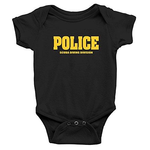 Teeburon Police Scuba Diving Division Baby Bodysuit