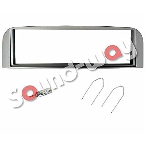 KIT cuadro reductor marco autorradio 1 DIN Alfa 147 gris + adaptador antena para coche: Amazon.es: Electrónica