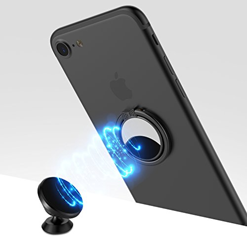 Black ICHECKEY Smart Phone Ring Holder Mirror Series Stylish 360/° Adjustable Ring Stand Grip Mount Kickstand for iPhone 7//7 Plus Galaxy S8//S8 Plus and Almost All Cases//Phones