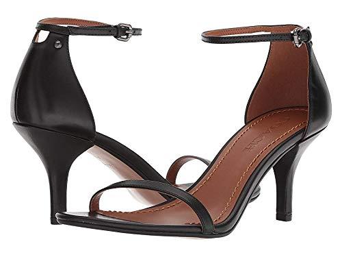 Coach Women's Heeled Sandal Black Leather 8 M US