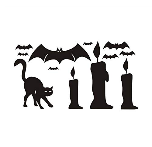 Zfwsbhd Happy Halloween Background Wall Sticker Window Home Decoration Decal Room Decoration Wall Stickers for Kids Rooms -