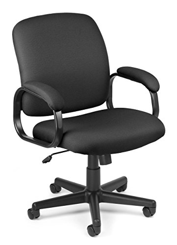 OFM Value Series Executive Task Chair - Low-Back Fabric Office Chair, Black (660-805)