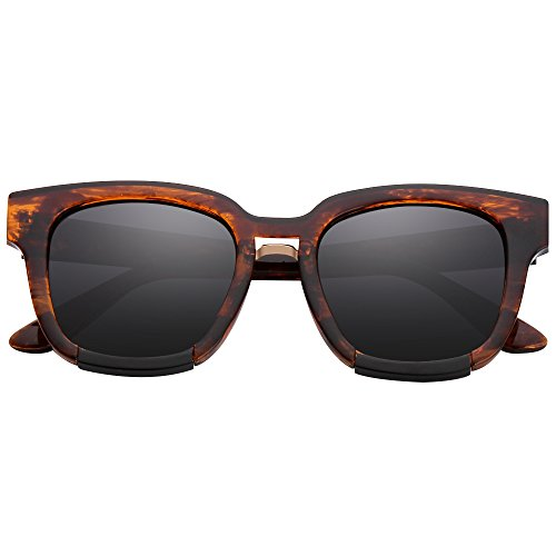 Retro Argus Le Brown Classic 80's Wayfarer Sunglasses,100% UV - Electric Cyber Sunglasses Monday