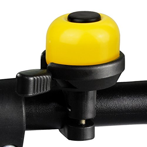 LYCAON Bike Bicycle Bell Double-Ring Loud Crisp Clear Sound for Scooter Cruiser Ebike Tricycle Mountain Road Bike MTB BMX Electric Bike ( Yellow )