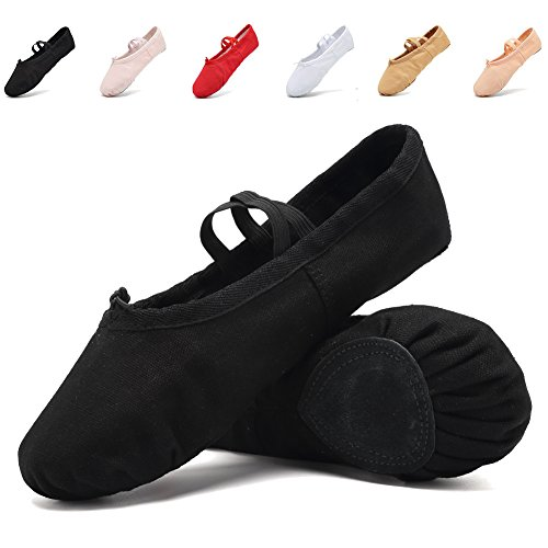 CIOR Ballet Slippers for Girls Classic Split-Sole Canvas Dance Gymnastics Yoga Shoes Flats(Toddler/Little Kid/Big Kid)