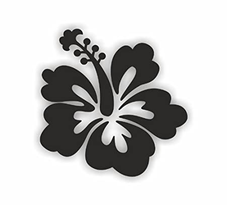 Sea View Stickers 30 Hibiscus Flower Stickers Black Amazon