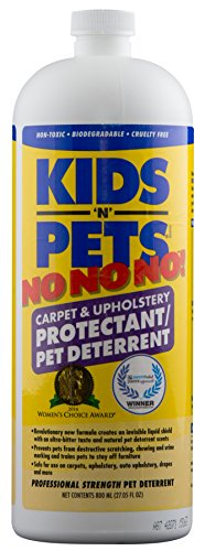 KIDS 'N' PETS NO NO NO! Carpet & Upholstery Protectant/Pet Deterrent – 27.05 oz (800 ml) | Professionally Formulated to Deter Chewing, Scratching & Urine Marking | Non-Toxic & Child Safe by KIDS 'N' PETS