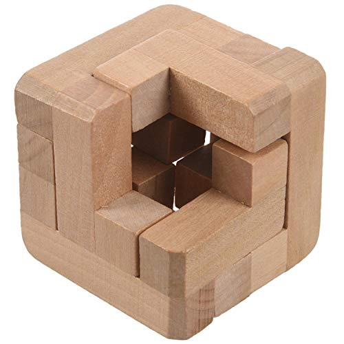 SODIAL 3D Wooden Interlocked Surround Lock Logic Puzzle Burr Puzzles Brain Teaser Intellectual Toy Magic Cube