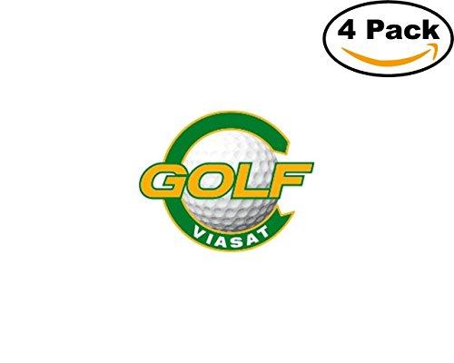 Golf Viasat Golf Logo 4 Stickers 4X4 Inches Car Bumper Window Sticker Decal