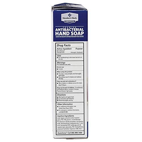 Member's Mark Commercial Foaming Antibacterial Hand Soap (2 pk.) (pack of 6) by Members Mark (Image #2)