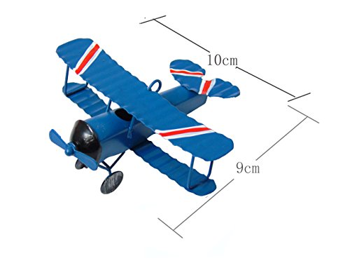 Ceeyali Vintage Wrought Iron Metal Plane Aircraft Models Handicraft for Photo Props//Christmas//Kids Toy//Cake Topper//Home Decor//Ornament//Desktop Decoration Pack of 3
