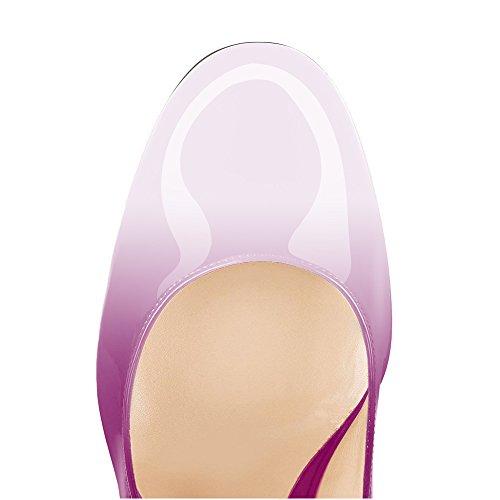 Chaussures bout à talon Femmes à uBeauty bloc femme violet rond Talon Blanc Talons cm Talons femme talon hauts Escarpins hauts bloc 10 ffXOSq