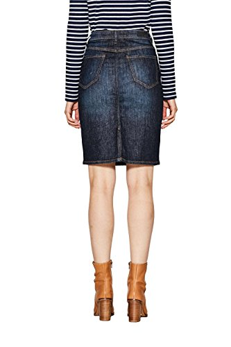 edc 902 Esprit by Jupe Blue Medium Bleu Femme Wash RaqpBwR