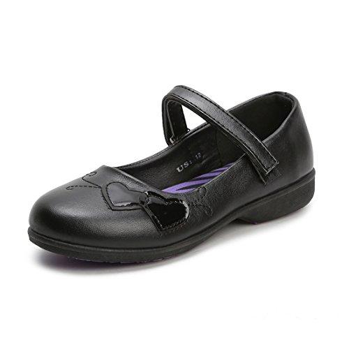 Hawkwell School Uniform Mary Jane Flat(Toddler/Little Kid),Black PU,9 M US