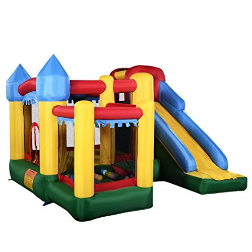 Costzon Mighty Inflatable Bounce House Castle Jumper Moonwalk Bouncer Without Blower (Jumpers Inflatable)