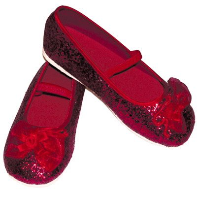 Glitter Party Shoes in Red EU 23-24 UK 6/7-Age 2/3 years