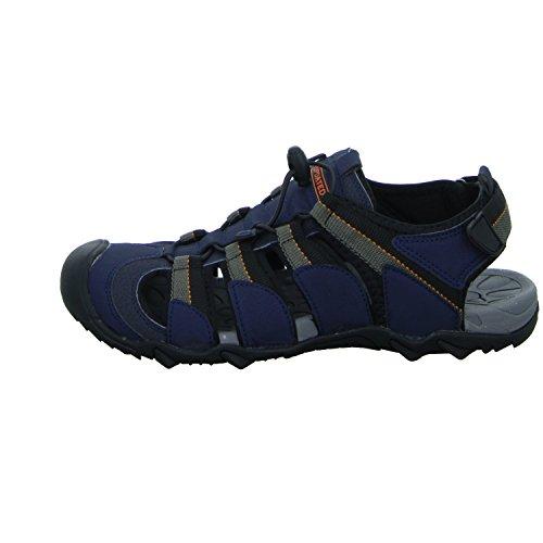 living Updated S16004C Herren Sandalette Ferse Geschlossen Blau (Blau)
