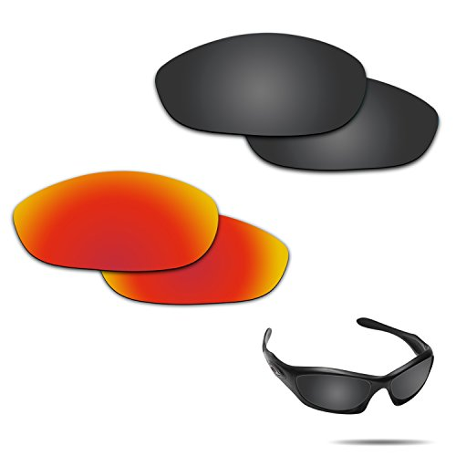 Fiskr Anti-saltwater Polarized Replacement Lenses for Oakley Monster Dog 2 Pairs Pack