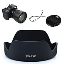 LXH EW-73C Lens Hood + 67mm Lens Cap Keepers kit for Canon EF-S 10-18mm f/4.5-5.6 IS STM Lens Replacement EW73C Secure Bayonet Lens Hood