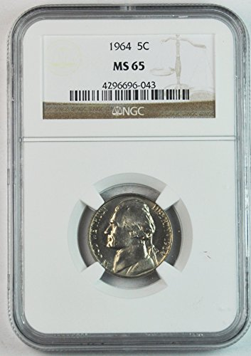 1964 P Jefferson Nickel Five Cents 5c MS65 NGC