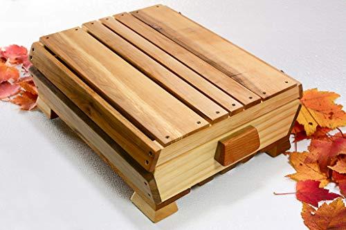 , Desk Organizer, Greeting Card Collection Box, Stationery, Night Table Box, Keepsake Wooden Gift Box, Treasury Keepsake Heirloom Box ()