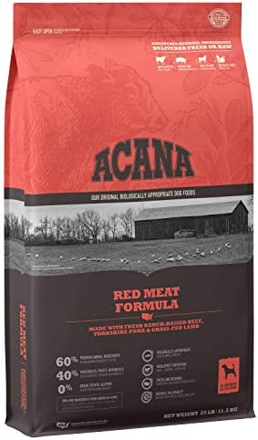 ACANA Dog High-Protein, Premium Natural Animal Ingredient, Adult Dry Dog Food