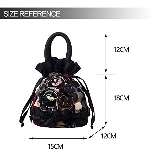 Purses Cash Bucket Handbag Black Drawstring Womens Phone Coin Pouches Ladies Money Bags Key Bag AaFxqYn