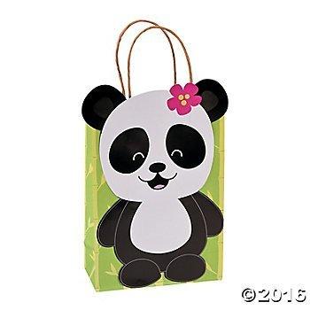 Paper Panda Party Kraft Gift Bags - 12 ct