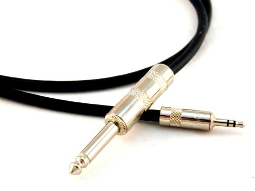Conquest Sound IPQM-20 20-Feet 1/8-Inch Stereo to 1/4-Inch Mono Cable for iPad