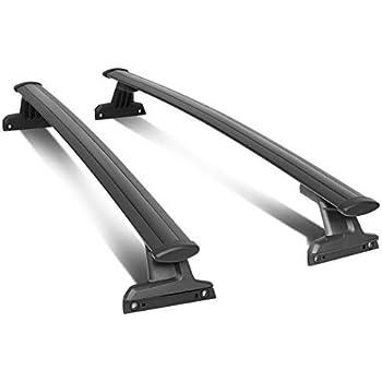 SCITOO fit for 2018-2019 Chevrolet Traverse 4-Door Aluminum Alloy Roof Top Cross Bar Set Rock Rack Rail