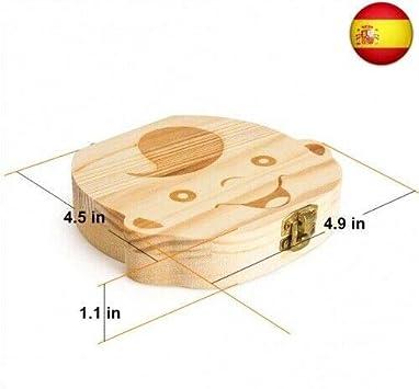 Regalo para ni/ños en madera de souvenir Acumulaci/ón de dientes Caja para guardar dientes para ni/ños y ni/ñas Caja de Dientes Ni/ña