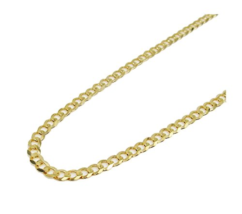 Solid 14K Italy Gold Curb Cuban Chain 20 Inches 2.7MM 5.5 Grams by Melano Creation