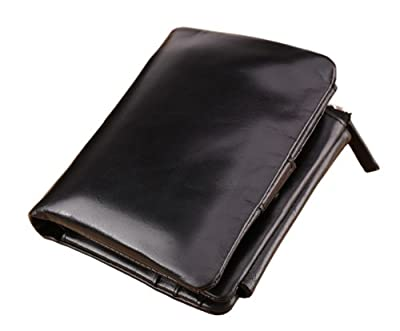 SAIERLONG Top Genuine Leather money clip Wallets purse Credit Card wallets for Mens