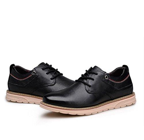 GRRONG Mode Pour Hommes Bas Pour Aider Chaussures Perméable à L'air épais Vent Extérieur Britannique Chaussures De Sport Black YWoIxx
