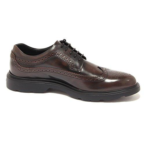 Hogan 0636S Scarpa Uomo H304 New Route Vintage bucature Marrone Brown Shoe Men Marrone