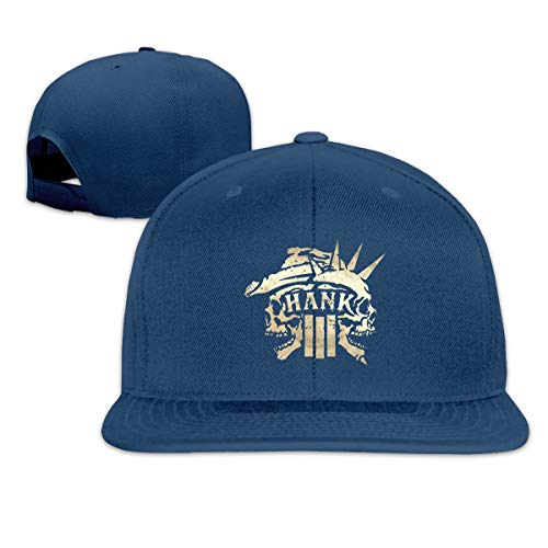 Womans & Mens Hank Williams Jr Hats Elastic Classic Adult Caps Navy