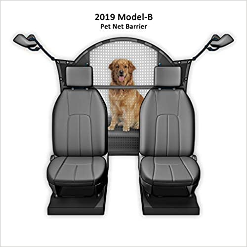 Improved for 2019 Pet Net Vehicle Safety Mesh Dog Barrier 50  W for SUV Car Truck Van Fits Behind Front Seats