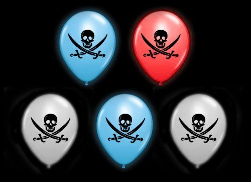 Pack of 50 Balloons New Pack of 50 Pirates Illoom Light Up LED Balloons Swashbuckling Balloons Packs of 5 to 50 High Seas As Seen on Dragons Den Light Up Balloons Party Decor Luminous Balloons