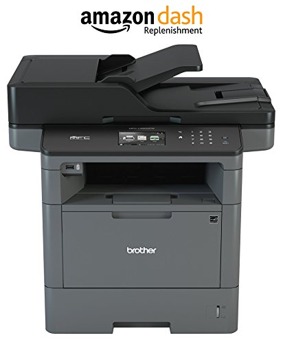 - Brother Monochrome Laser Printer, Multifunction Printer, All-in-One Printer, MFC-L5900DW, Wireless Networking, Mobile Printing & Scanning, Duplex Print, Copy & Scan, Amazon Dash Replenishment Enabled