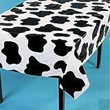 Fun Express Lightweight Cow Print Tablecloths (Set of 6), 54 x 72'