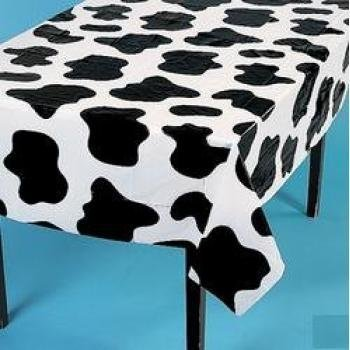 Fun Express Lightweight Cow Print Tablecloths (Set of 6), 54 x 72