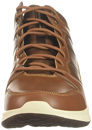 Brn brown ralcon Uomo Marrone Skechers Classici Stivali Delson Leather 87nqYf
