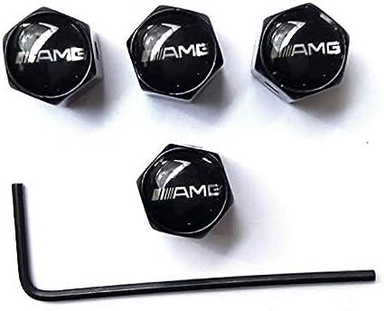 Black R Emblem KingDao 4Pcs//set Car Wheel Airtight Tyre Tire Stem Car Valve Stem Caps Spanner//Keychain