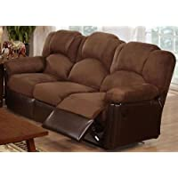 Bobkona Motion Sofa in Chocolate Microfiber by Poundex
