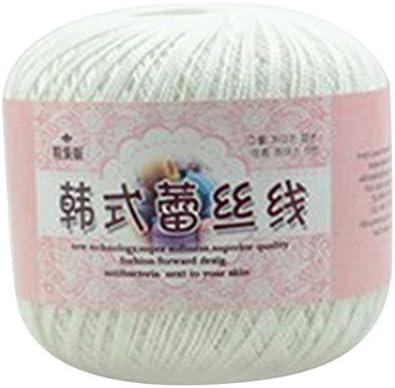 Verlike Ovillo de hilo de algodón mercerizado para bordar, ganchillo, tejer, encaje o joyería, algodón, 12, talla única